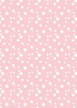 Rosa Polkadots-Muster