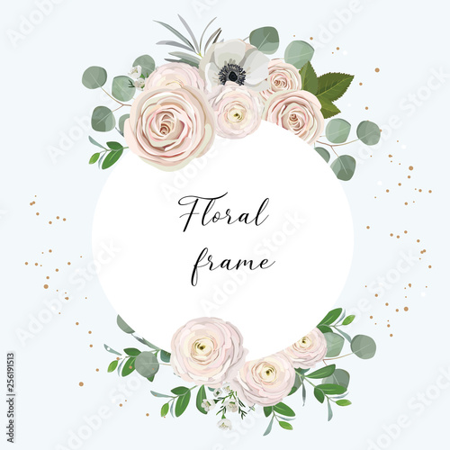 Canvas Print vector floral frame