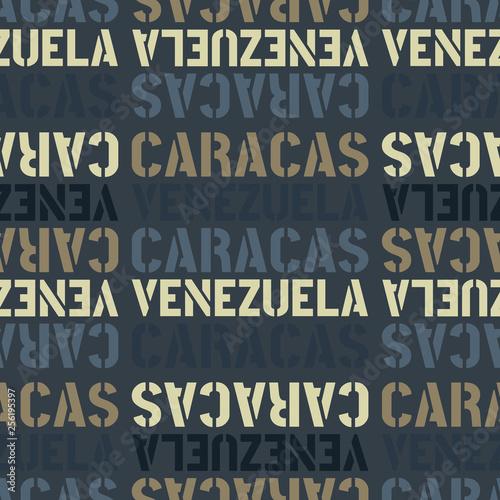 Fototapety, obrazy: caracas, venezuela seamless pattern