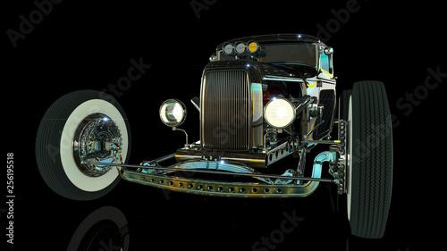 Fotografia Hot Rod 3D render