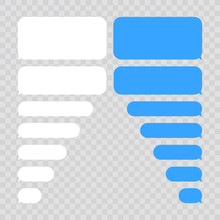 Message Bubbles Chat Vector. Vector Template Of Message Bubbles Chat Boxes Icons.