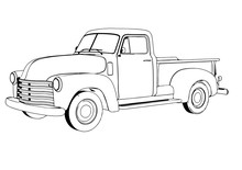 Sketch Pickup Vector