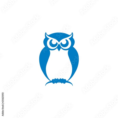 Photo Stands Owls cartoon owl logo designs on isolated white background