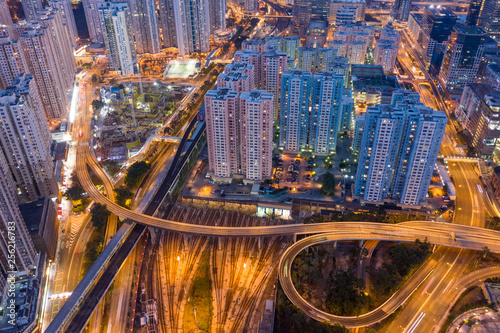 Staande foto Las Vegas Hong Kong city night