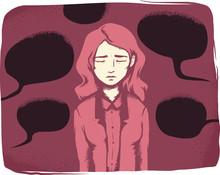 Girl Verbal Harassment Illustr...