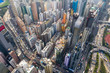 canvas print picture - Hong Kong city from top