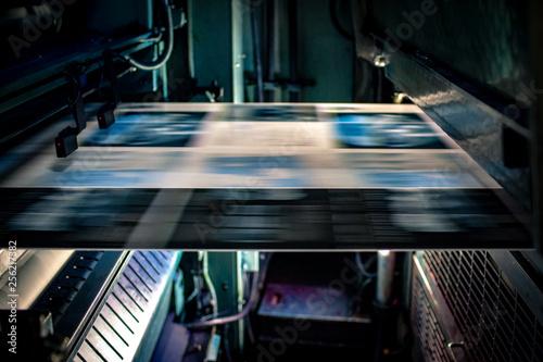 Fotografía  Offsetdruck Magazin Blau