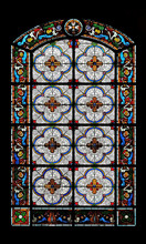 Stained Glass Window In The Saint Augustine Church In Paris, France
