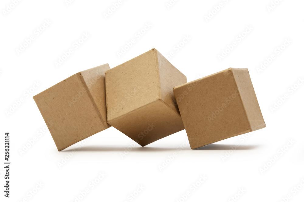 Fototapety, obrazy: Brown Cardboard Cubes