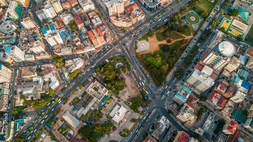 Foto op Plexiglas Barcelona aerial view of the city of Dar es Salaam