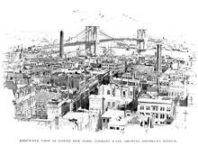 New York City. Engraving Illustration