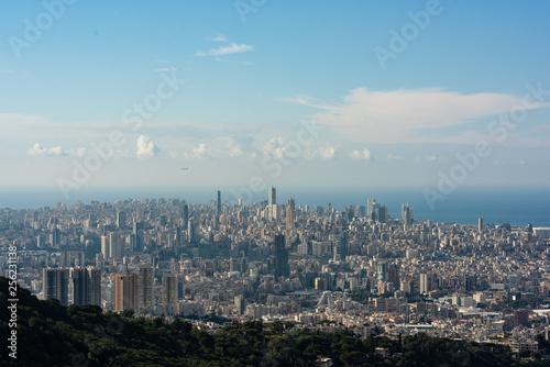Fotografía Panorama of Beirut, Lebanon