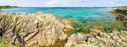 Photographie Coast of the Atlantic Ocean in summer as a panorama header