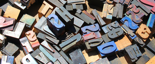 Fotografía  Caractères d'imprimerie en bois