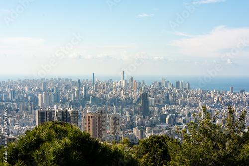 Naklejka premium Panorama Bejrutu, Liban