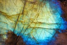 Amazing Colorful Texture Of Labradorite Mineral Gemstone Background Macro Close-up