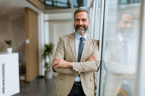 Portrait of handsome senior businessman Fotobehang