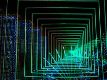 Abstract Bokeh Led Light 3d