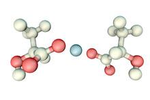 Calcium Lactate Molecule, 3D I...