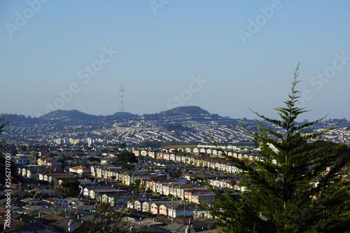 San Bernhadino Hills residential area Wallpaper Mural