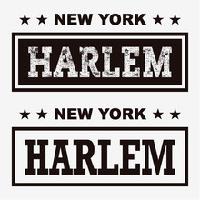 T-shirt Graphics, Typography. New York, Harlem. Vector.