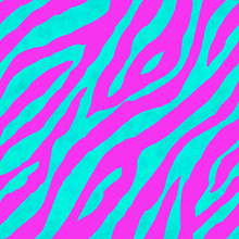 Abstract Pink And Blue Zebra Striped Textured Seamless Pattern Background
