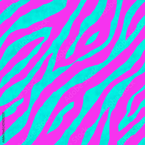 Fotomural  Abstract pink and blue zebra striped textured seamless pattern background
