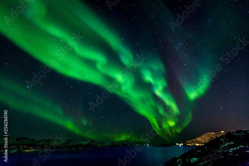 Keuken foto achterwand Noorderlicht Wspaniała zorza polarna