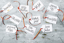Merry Christmas Wrote In Several Languages, DIY Gift Tags