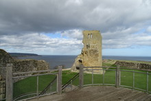 Cloudy Skies Over Scarborough Castle, North Yorkshire, England, UK