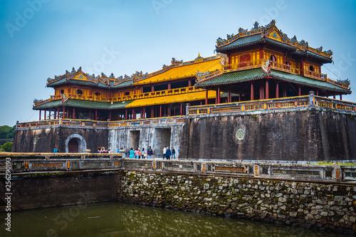 hue, vietnam, city, imperial, citadel, gate, palace, asia, architecture, ancient Canvas Print