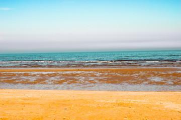 Fototapeta Vintage beach with sunset - retro vintage filter effect