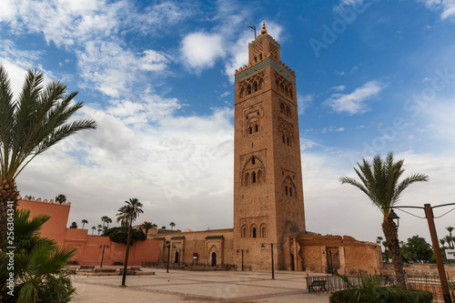 Recess Fitting Morocco Koutubia mosque in Marakech. One of most popular landmarks of Morocco.