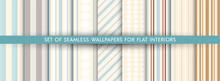 Set Of Vector Wallpaper Pattern