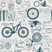 Bicycles.Vector Abstract Seaml...