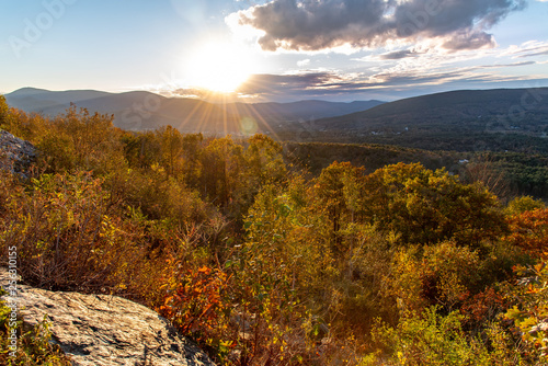 Photo  Sunset in the Berkshires along the Mohawk Trail close to Williamstown, Massachus