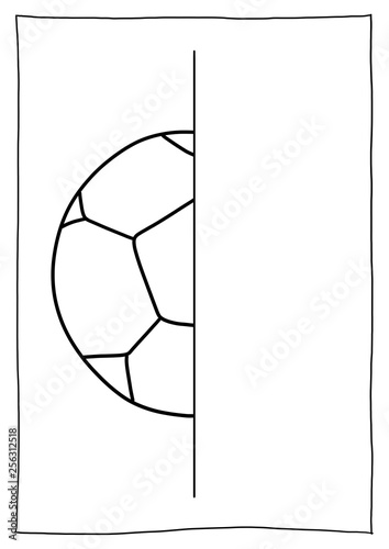 Spiegelbild Malen Fussball Buy This Stock Illustration