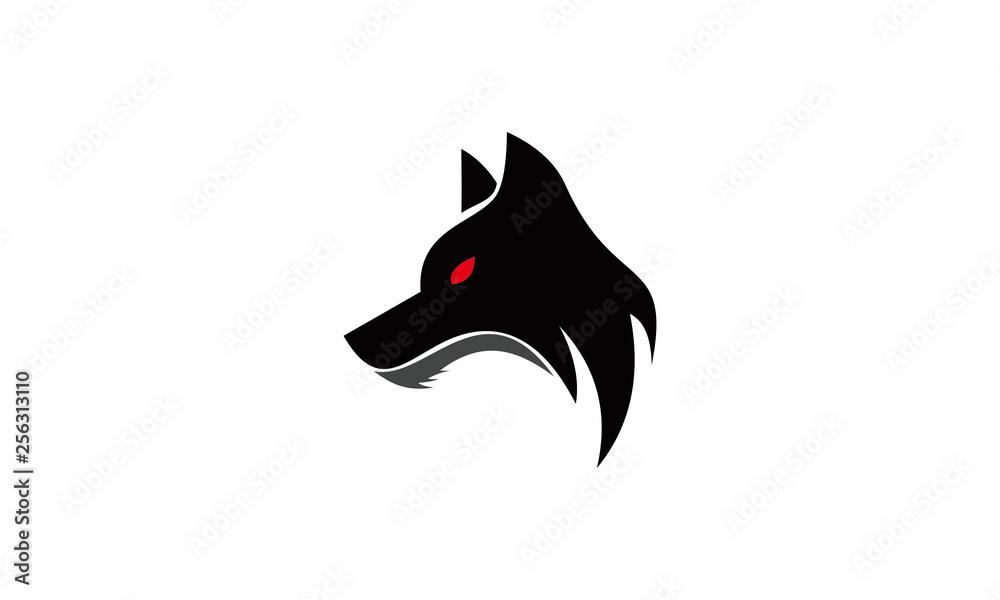 logo wektor twarz zła wilk