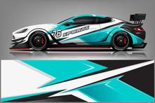 Sport Car Decal Wrap Design Ve...