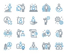 Management Line Icons. Set Of ...