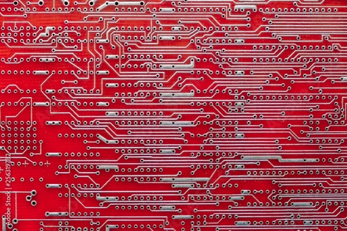 Fotografía  Empty circuit board, pcb printed technology,  digital.