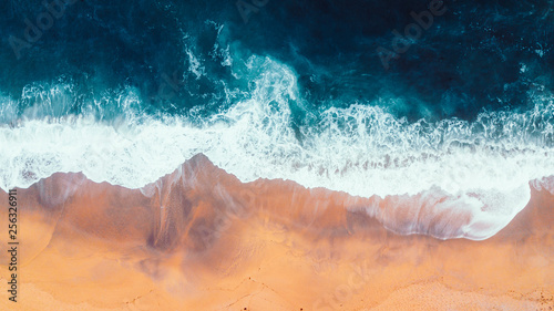 Cote Aerial view of Waves and Beach of Great Ocean Road Australia