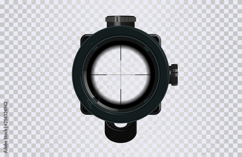 Fotografía Sniper scope crosshairs in realistic style