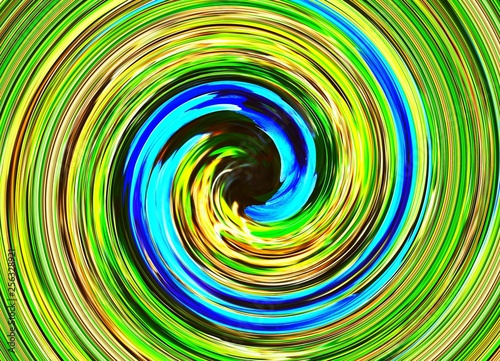 Poster Psychedelic Cyclone bleu