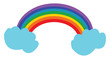 A beautiful rainbow vector or color illustration