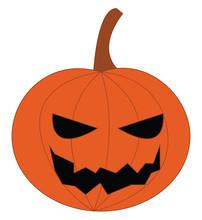Jack O Lantern Pumpkin Decoration Vector Or Color Illustration