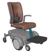 A Motorized Wheelchair Machine Vector Or Color Illustration