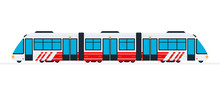 Speed Intercity Train Vector F...