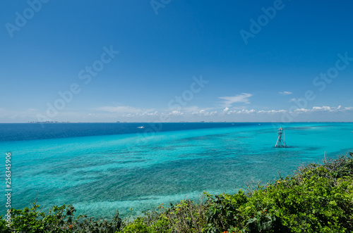 Wall Murals Ocean Scenic view of the caribbean sea from Isla Mujeres cliff