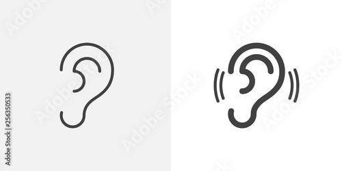 Ear, hearing icon Canvas